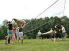 Další oblíbená táborová hra dekolejbal.