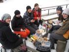 Zimní piknik v Sázavském údolí